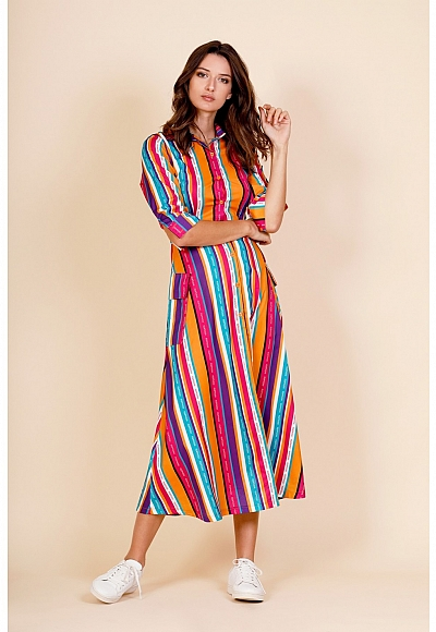 LONG LINES DRESS