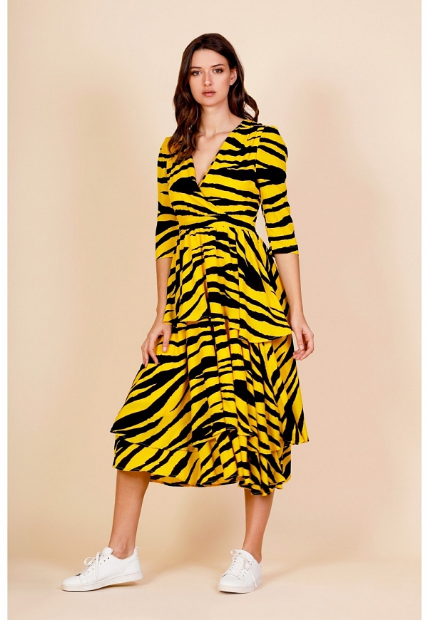 LONG TIGER DRESS - 4365
