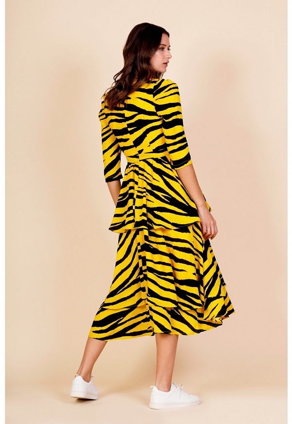 LONG TIGER DRESS - 4366