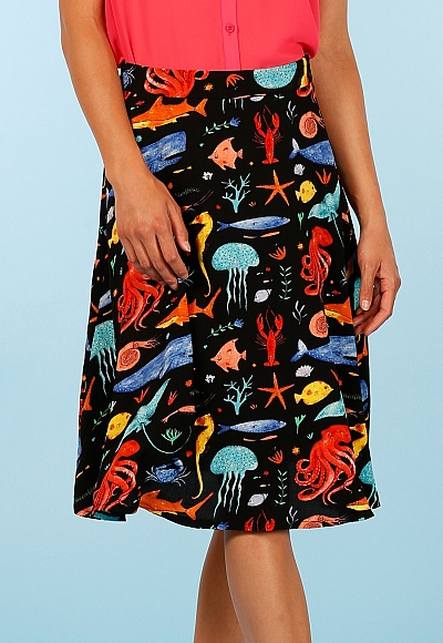 SEA ANIMAL SKIRT